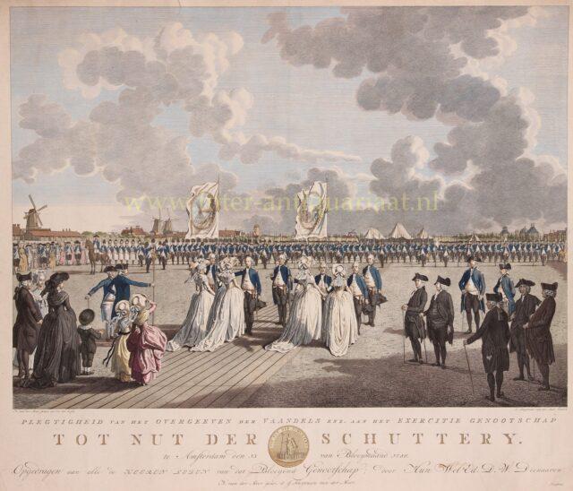 Patriottentijd in Amsterdam - Excercitiegenootschap Tot Nut der Schutterij, 1786
