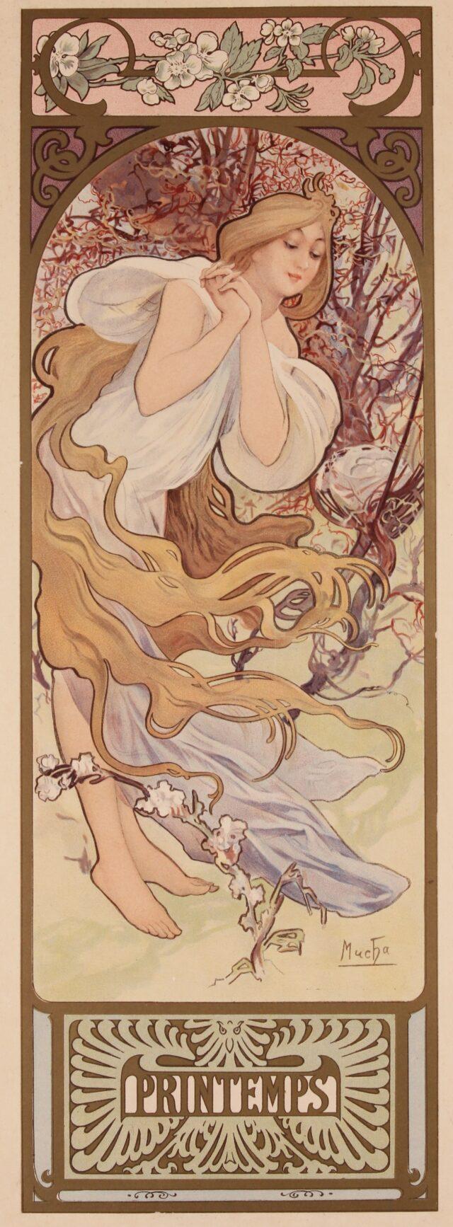 originele lithografie Alphonse Mucha 1896