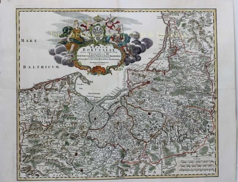 Polen, Kaliningrad/Königsberg (Pruisen) – Johann Baptiste Homann, ca. 1710