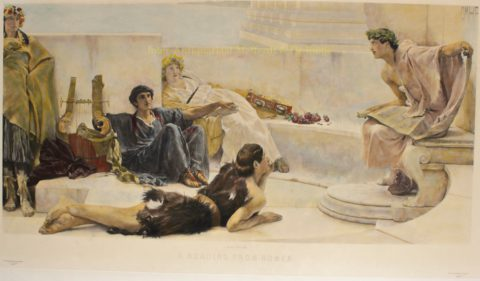 Reading from Homer – Sir Lawrence (Lourens) Alma-Tadema, ca. 1885