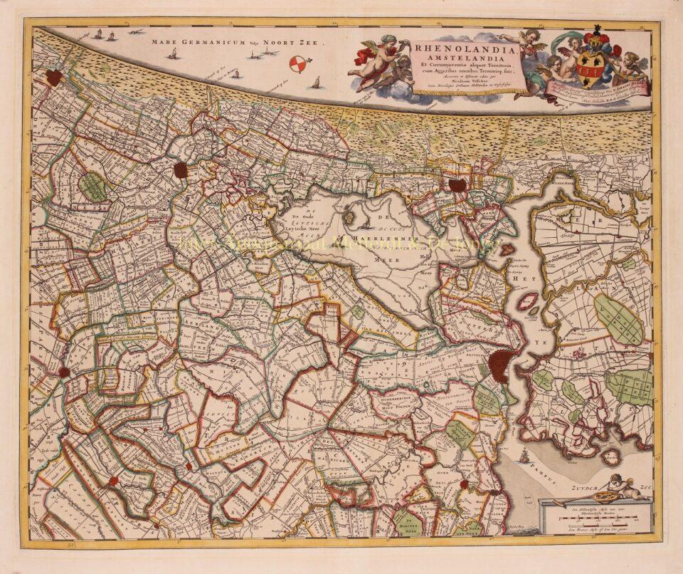 oude kaart van Rijnland Amstelland