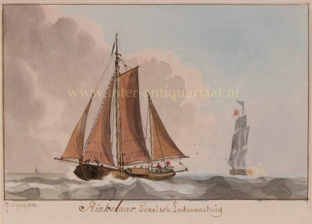 19de eeuwse Texelsche rinkelaar (loodsboot)