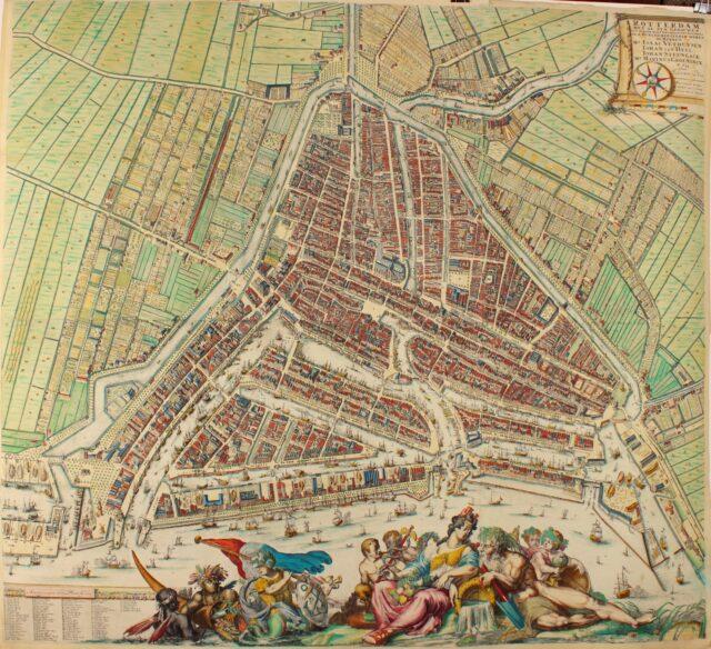 Wandkaart Rotterdam - Romeijn de Hooghe + Johannes de Vou