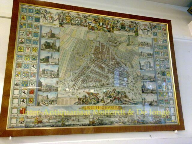 wandkaart Rotterdam - De Vou