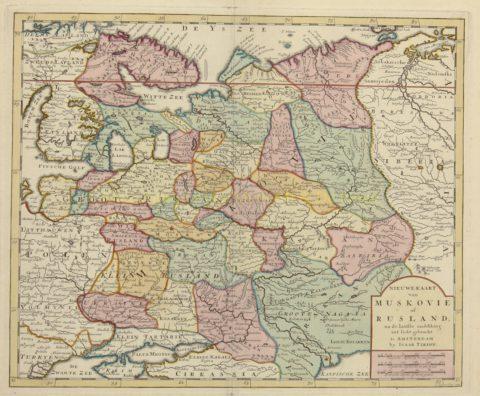 antieke kaart Rusland – Isaak Tirion, 1734