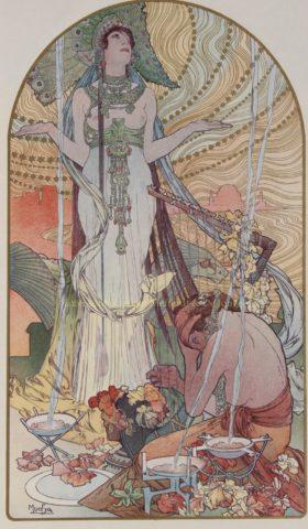 """Incantation/ Salammbô"" – Alphonse Mucha, 1897"