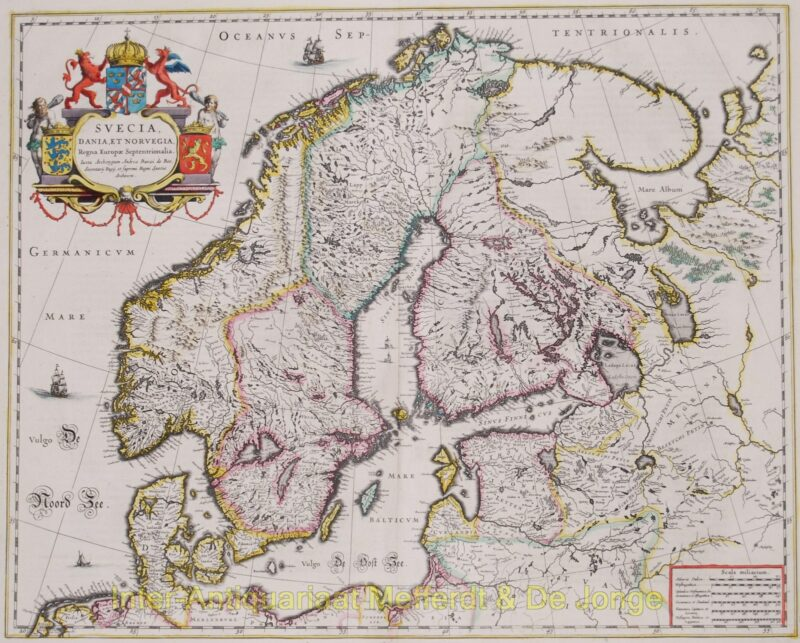 Scandinavia – Blaeu, 1643-1650