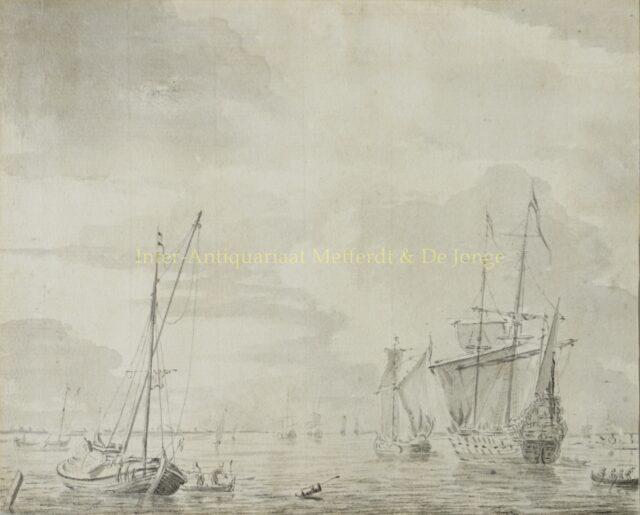 Scheepstafereel - Hendrik Kobell (1751-1779)