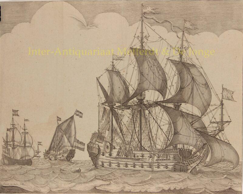 Oost-Indië vaarder – Johannes van Keulen I, Anthonie de Winter, 1680