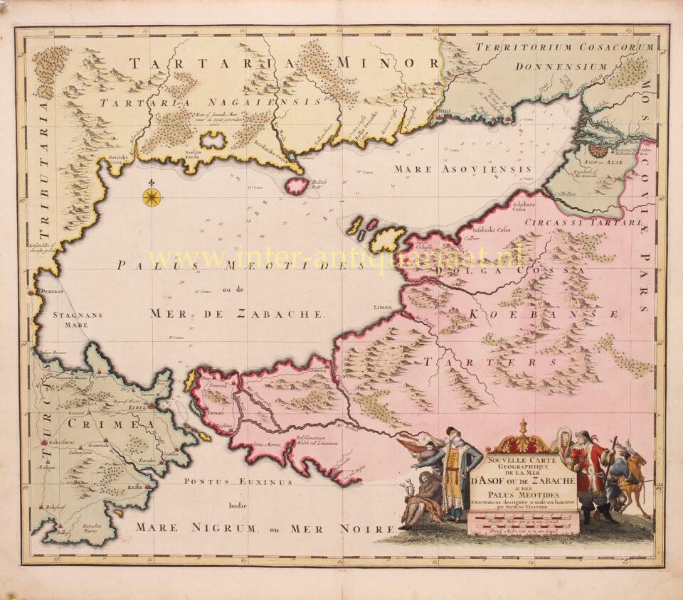 17th century map of the Sea of Azov