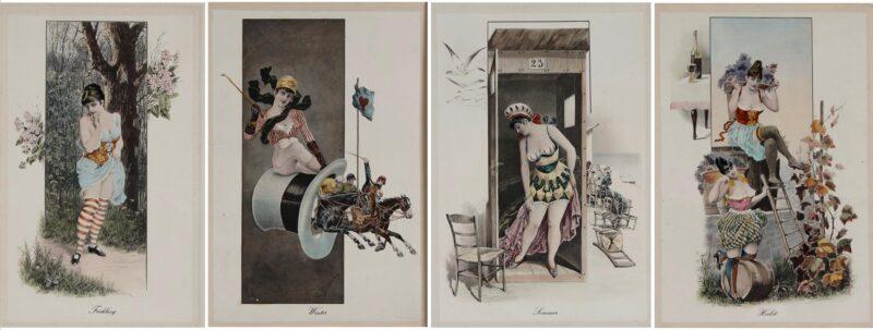 De vier seizoenen – Gottfried Sieben, ca. 1900