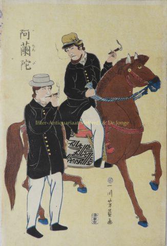 Hollanders in Japan – Utagawa Yoshikazu, ca. 1860