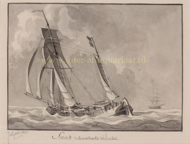 19e-eeuws smak schip