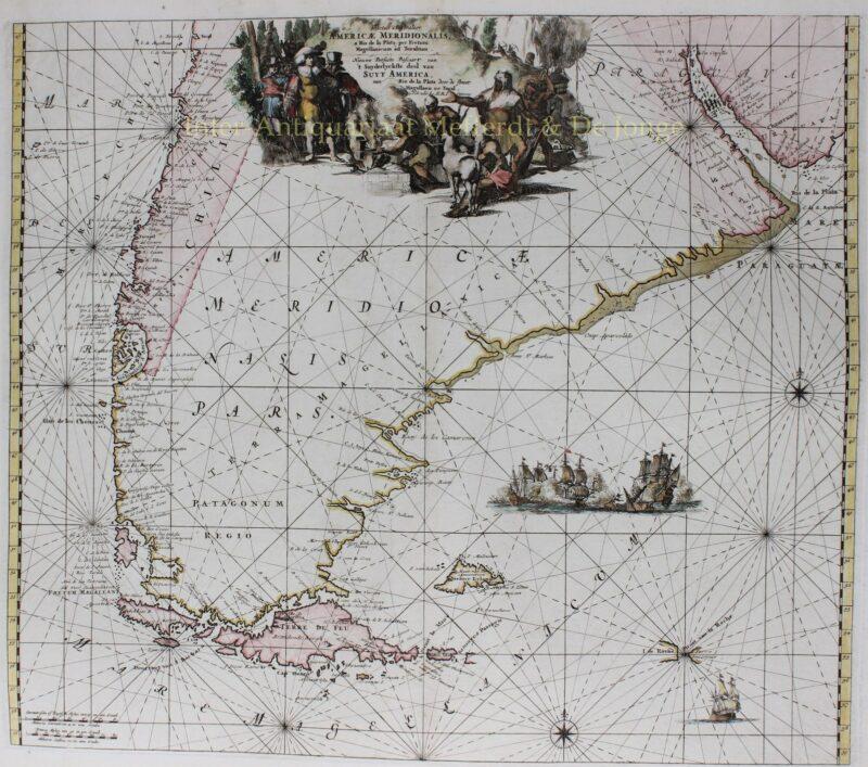 Zuid-Amerika, Tierra del Fuego/Vuurland – Reinier en Josua Ottens, ca. 1745