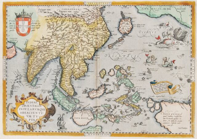 Southeast Asia map - Ortelius
