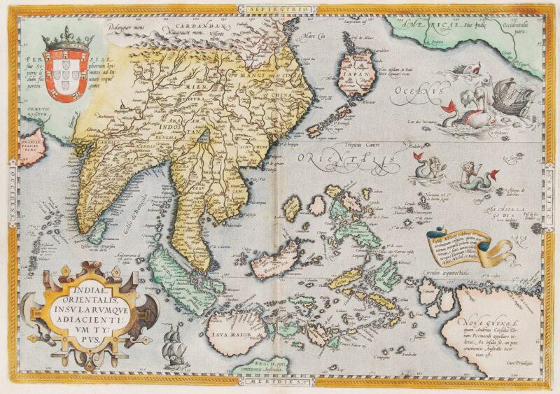 Southeast Asia map – Ortelius, 1587