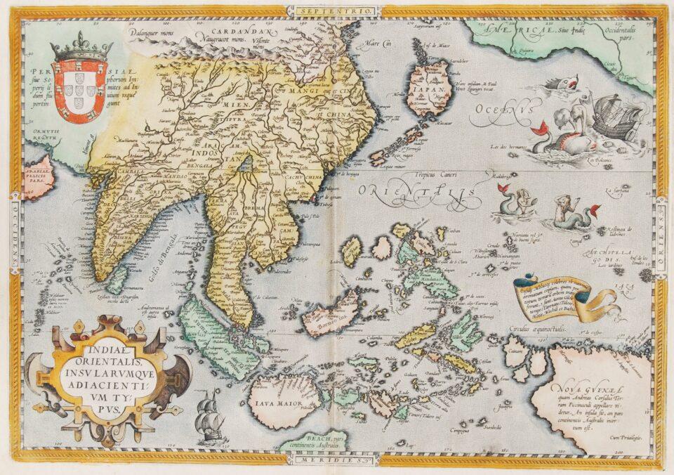Southeast Asia map - Ortelius