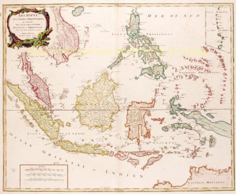 Southeast Asia – De Vaugondy, 1750