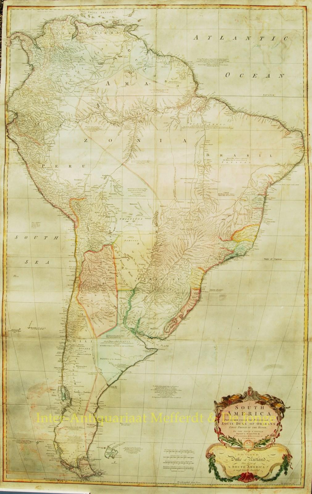 Latin america antique wall map thomas kitchin latin america freerunsca Images