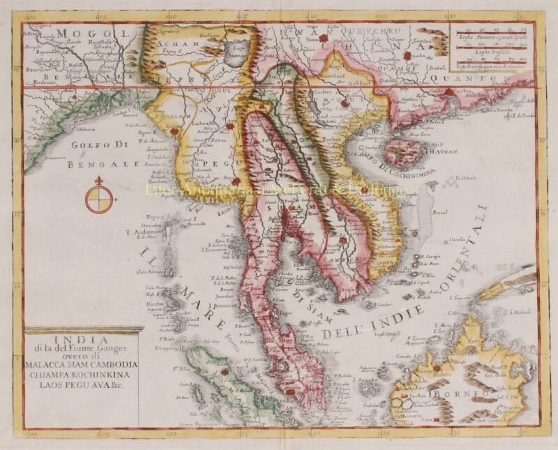 Zuidoost-Azië, Indochina, Maleisisch schiereiland – Giambattista Albrizzi, 1740-1762