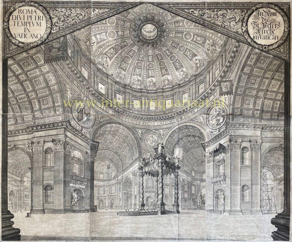 interior of St. Peter's Basilica in 1696