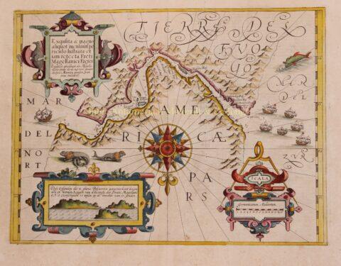 Straat van Magellaan – Gerard Mercator, 1613