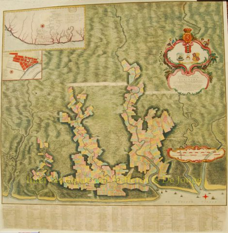 Suriname, kaart van de kolonie – Alexandre de Lavaux, 1758