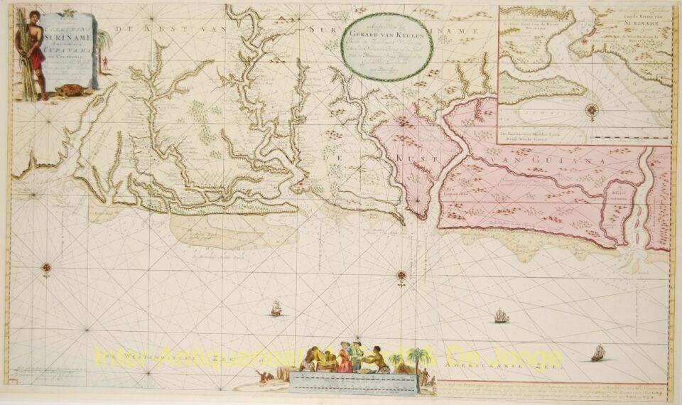 Suriname paskaart - Van Keulen