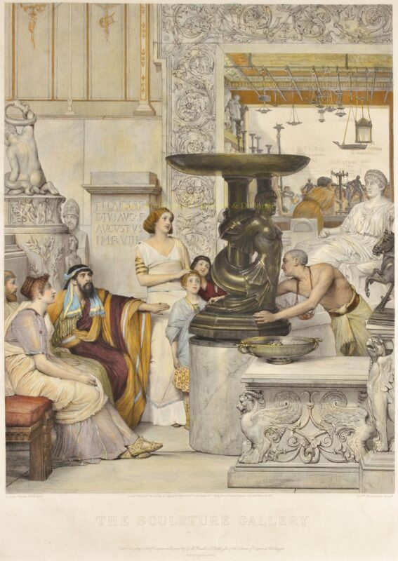 The Sculpture Gallery – Lawrence Alma-Tadema, 1877