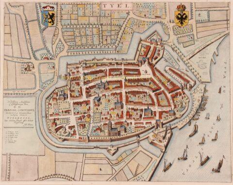 17e-eeuwse kaart van Tiel