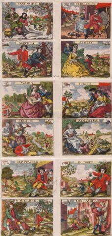 Twaalf maanden – Johann Sebastian Müller, vóór 1744