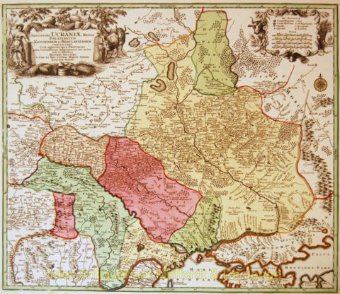 Ukraine antique map – Seutter, c. 1720