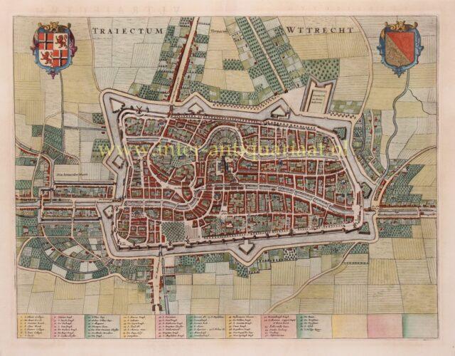 oude kaart Utrecht stad 17e-eeuw Joan Blaeu