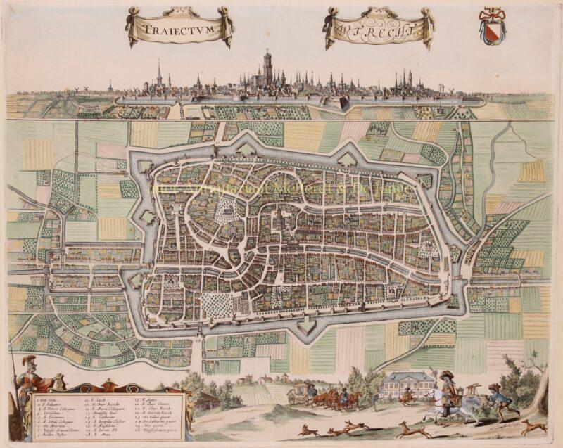 17e-eeuwse plattegrond van Utrecht