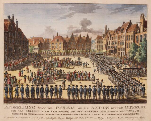 Patriotten op de Neude in Utrecht