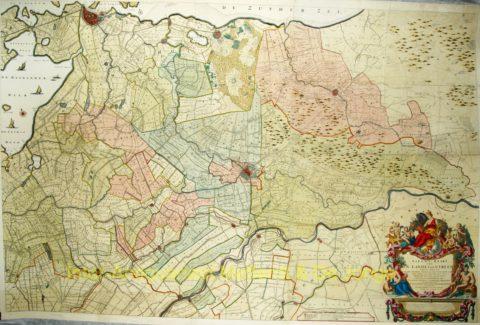 Utrecht wandkaart – Bernard de Roy, 1743