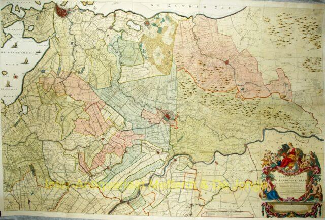 Utrecht wandkaart - Bernard de Roy