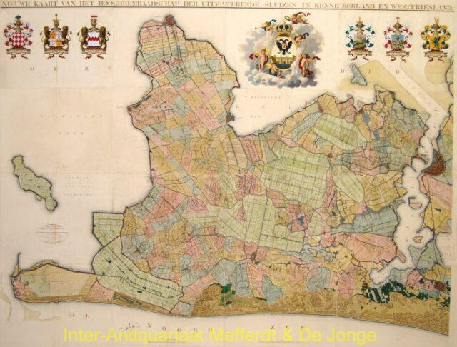 Noord-Holland - antieke wandkaart naar Johannes Dou