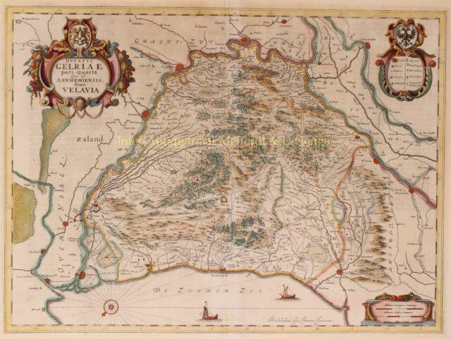 17e-eeuwse kaart van de Veluwe