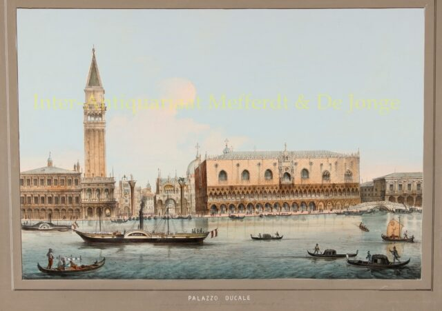 19th century view of Venice - Eugenio Testolini