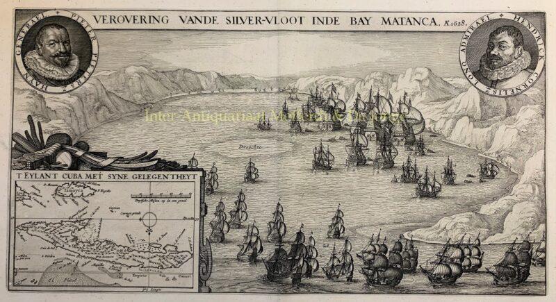 Verovering van de Zilvervloot – Claes Jansz. Visscher, 1628