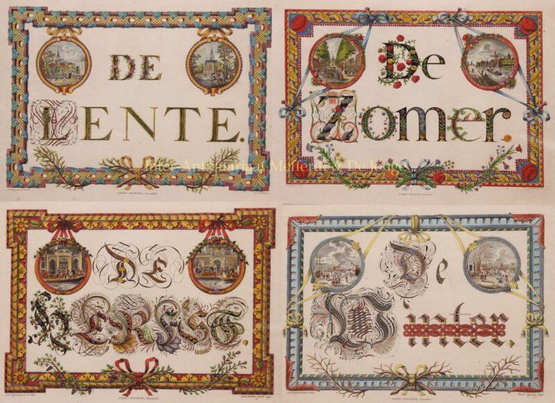 Vier seizoenen in Amsterdam – naar Adrianus Doesjan, 1790