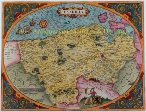 Vlaanderen – Arbraham Ortelius, 1570-1575