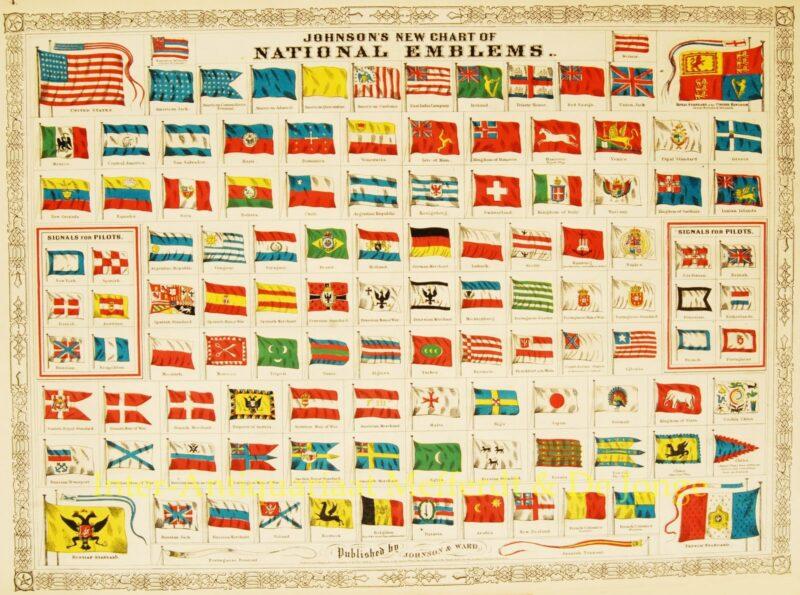 Vlaggenkaart, Alvin J. Johnson, 1868
