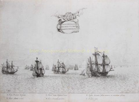 Vertrekkende vloot Johan Maurits van Nassau naar Brazilië – Salomon Savery naar Frans Post, 1647
