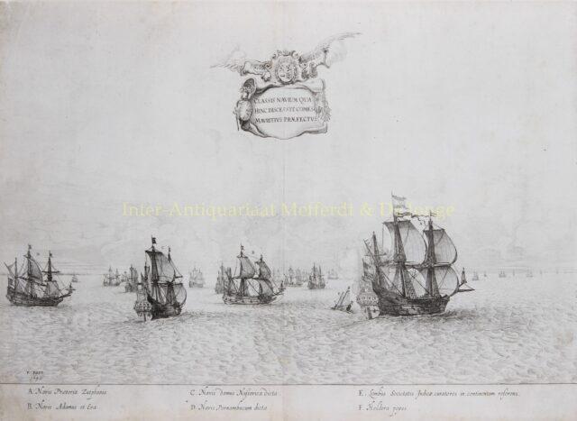 Vertrekkende vloot Johan Maurits van Nassau naar Brazilië - Salomon Savery naar Frans Post