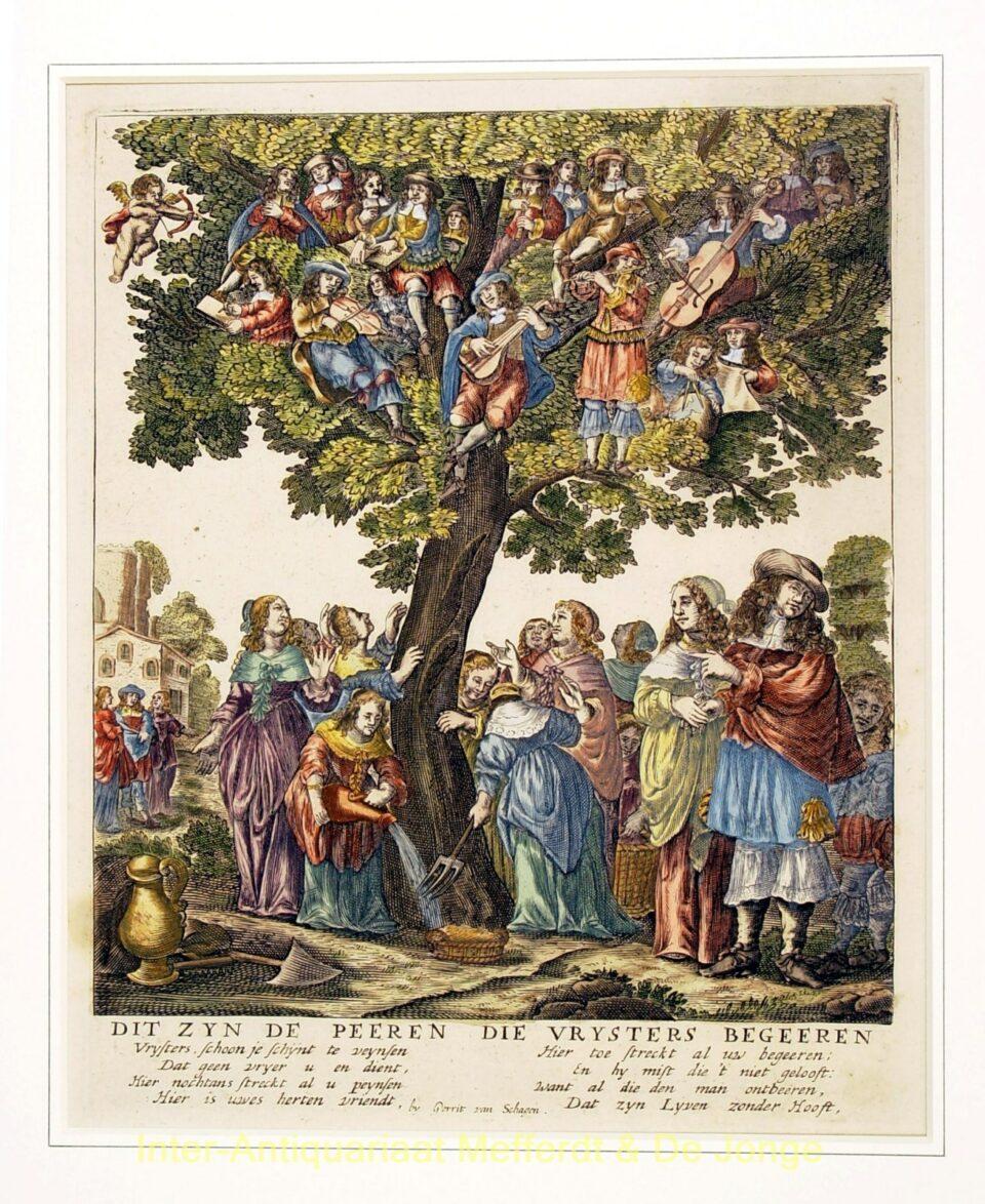 Volksprent - Vrijstersboom