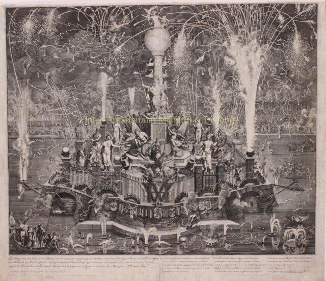 vuurwerk in de Hofvijver in het jaar 1702