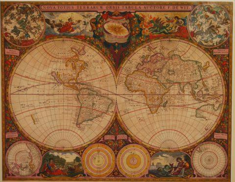 Wereldkaart – Frederick de Wit, 1660