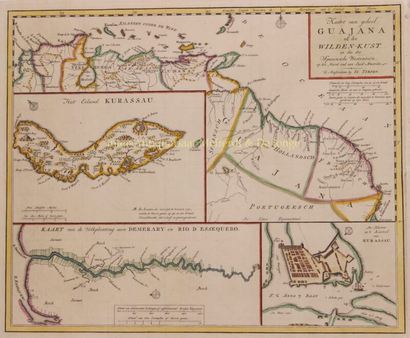 Curaçao, Guiana – Isaak Tirion, 1767